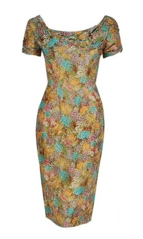 04553fc6683 This vintage Ceil Chapman designer dress is in excellent condition with no  rips